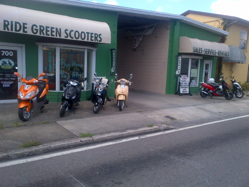 Ride Green Scooters, Winter Park, Florida'
