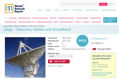 Libya - Telecoms, Mobile and Broadband'