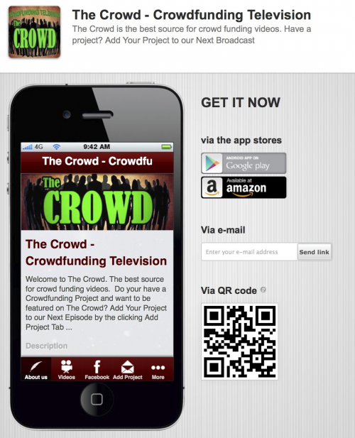 The Crowd New Crowdfunding Television Show'
