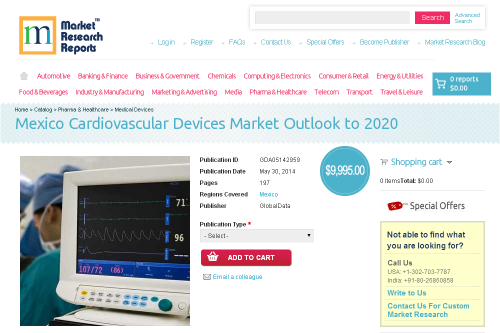 Mexico Cardiovascular Devices Market Outlook to 2020'