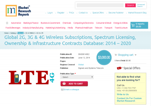 Global 2G, 3G & 4G Wireless Subscriptions Database 2'