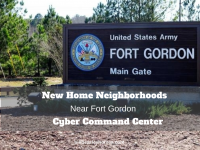 New Home Neighborhoods Near Fort Gordon Cyber Command Center