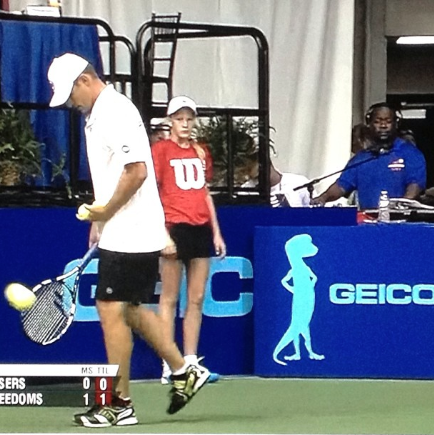 DEEJAY 007 at Philadelphia Freedoms match'
