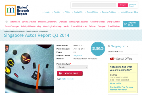 Singapore Autos Report Q3 2014'