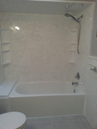 RE BATH full Bathroom remodeling from acrylic to tile