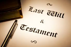 last will and testament'