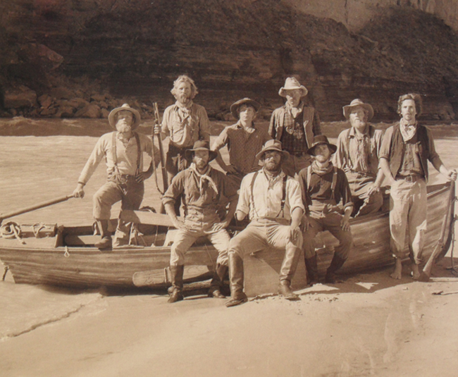 Powell expedition actors portray Colorado River expedition
