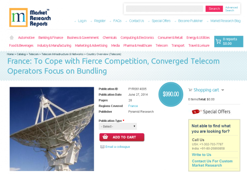 France: To Cope with Fierce Competition, Converged Telecom O'
