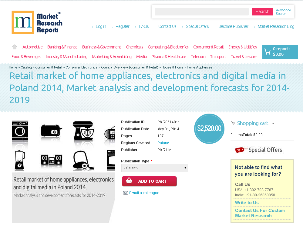 target markets for home appliances