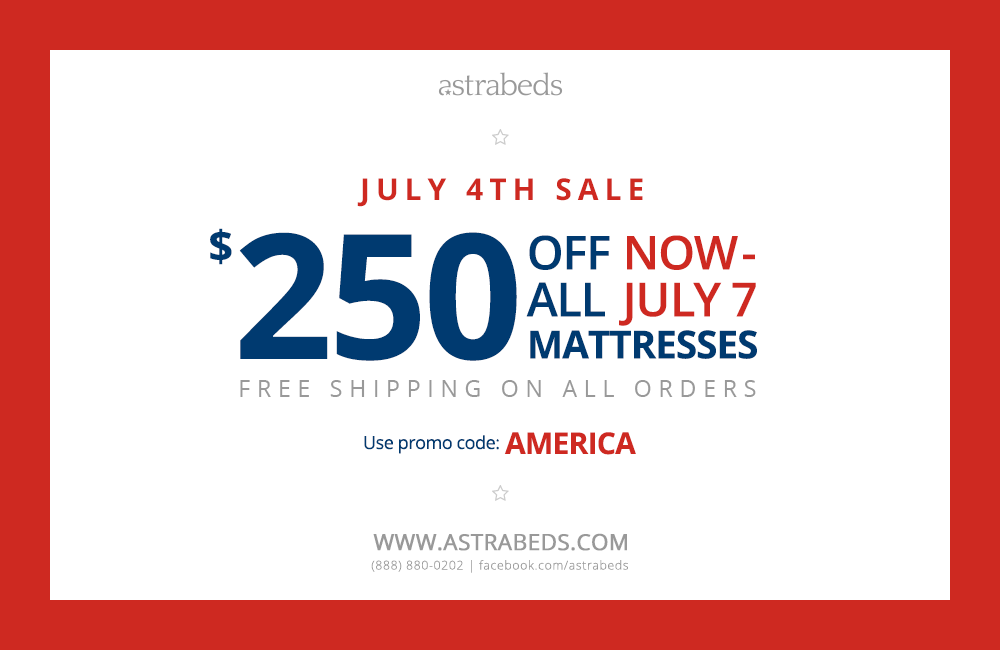 Astrabeds' Announces 2014 4th of July Mattress Sal