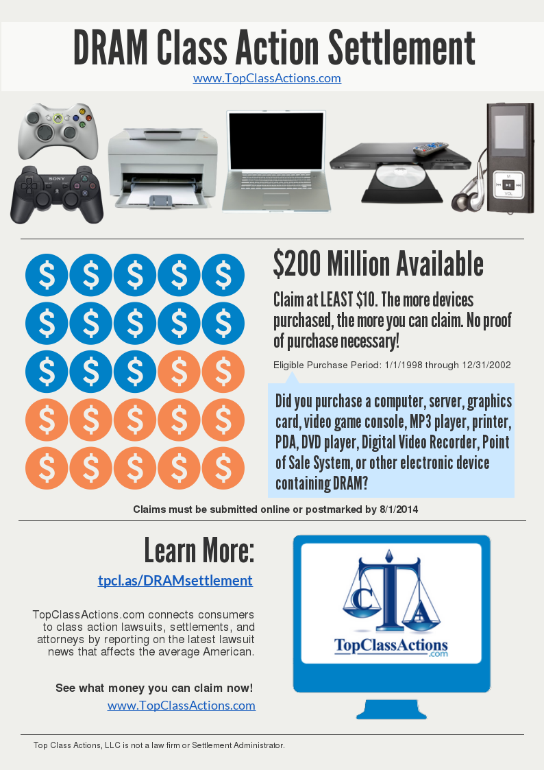 DRAM Class Action Settlement - INFOGRAPHIC