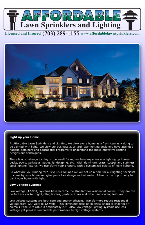 Affordable Lawn Sprinklers and Night Lighting Curb Appeal'