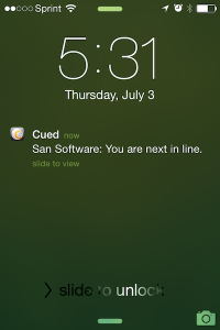 Cued mobile app - Notification Center