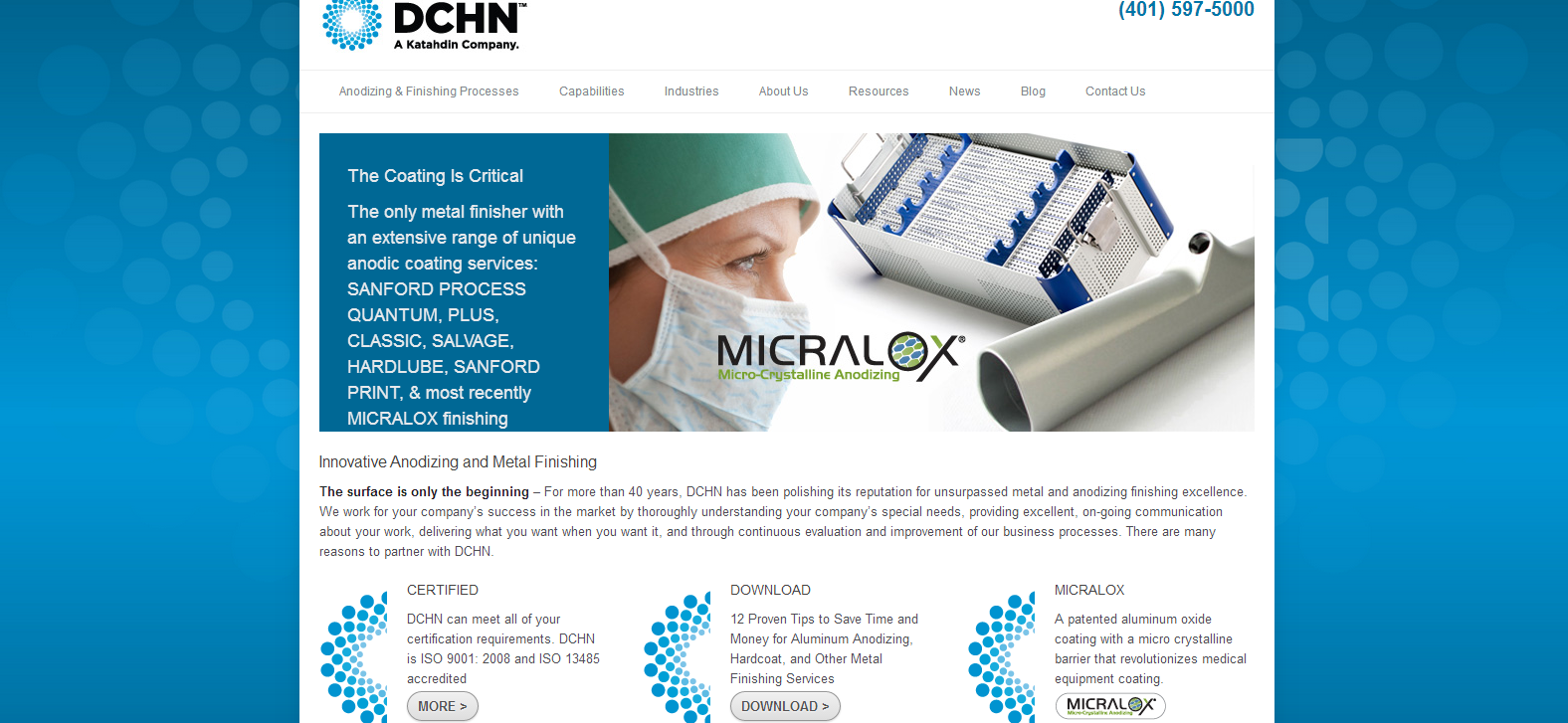 Grant Marketing Redesigns Corporate Website of DCHN.