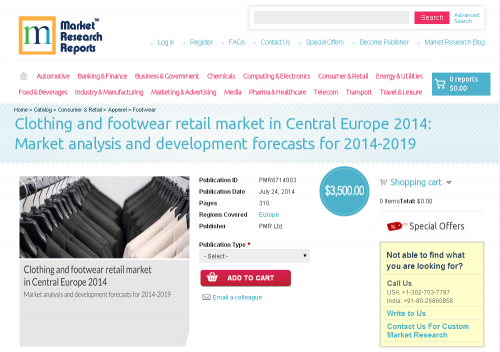 Clothing and footwear retail market in Central Europe 2014'