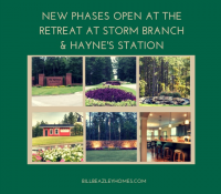 New Phases at The Retreat @ Storm Branch and Hayne's St