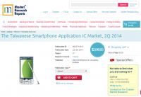 The Taiwanese Smartphone Application IC Market, 2Q 2014