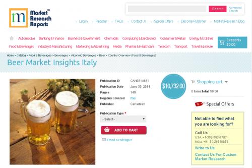 Beer Market Insights Italy'