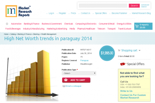 High Net Worth trends in paraguay 2014'