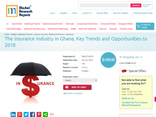Insurance Industry in Ghana Opportunities ot 2018'