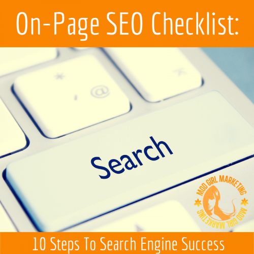 On-Page SEO Checklist: 10 Steps To Search Engine Success'