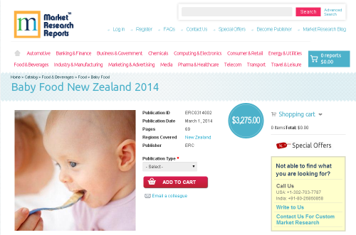 Baby Food New Zealand 2014'