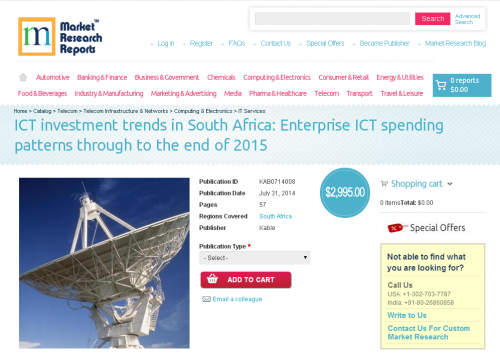 ICT investment trends in South Africa to 2015'