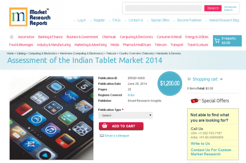Assessment of the Indian Tablet Market 2014'