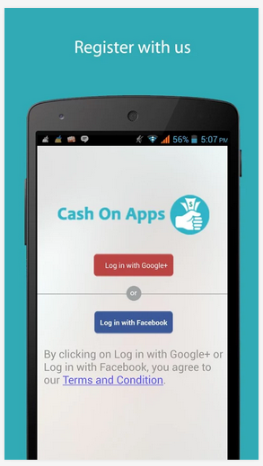 Cash On Apps - Screen1