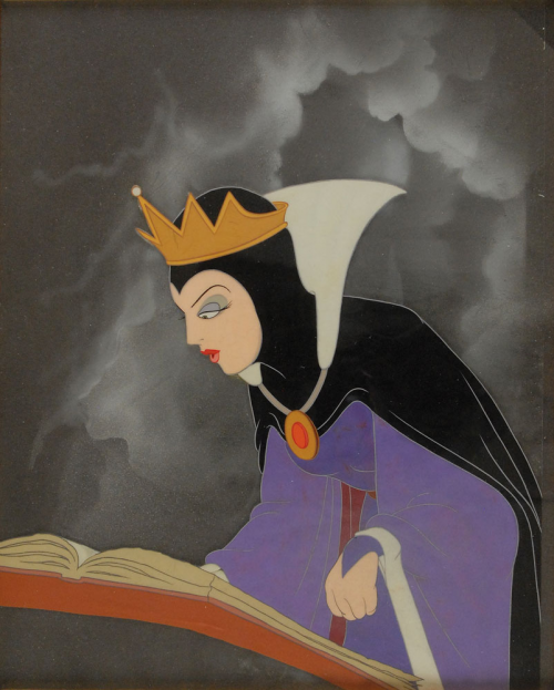 The Evil Queen production cel from Snow White'