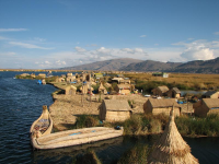 Paddle Lake Titicaca Three Paddlers