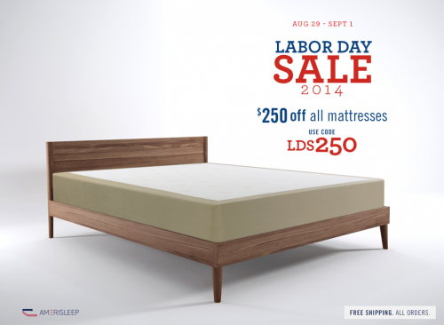 Amerisleep Releases Labor Day Mattress Sale on Memory Foam'