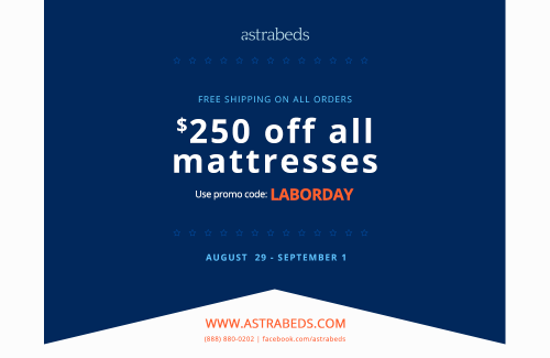 Astrabeds Natural Latex Mattresses 2014 Labor Day Sale'
