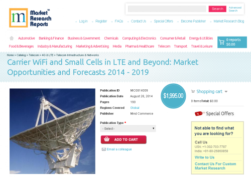 Carrier WiFi and Small Cells in LTE and Beyond 2019'