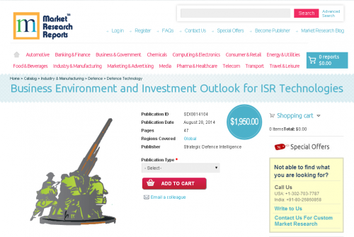 Business Environment and Investment Outlook for ISR Technolo'