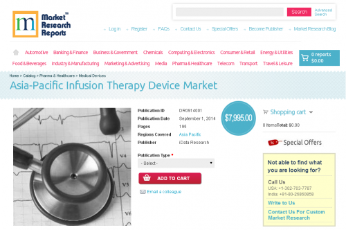 Asia-Pacific Infusion Therapy Device Market'