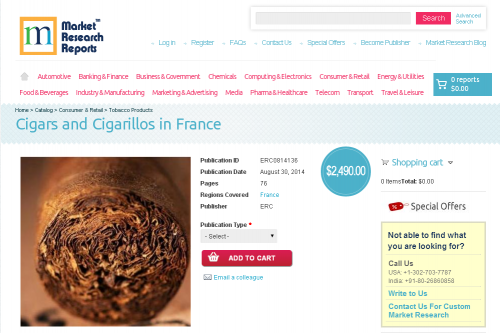 Cigars and Cigarillos in France'