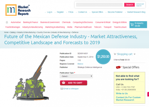 Future of the Mexican Defense Industry'