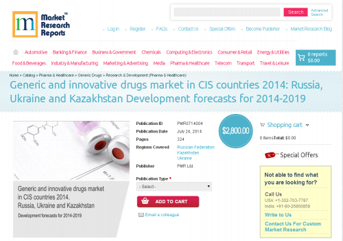 Generic and Innovative Drugs Market in CIS Countries 2014'