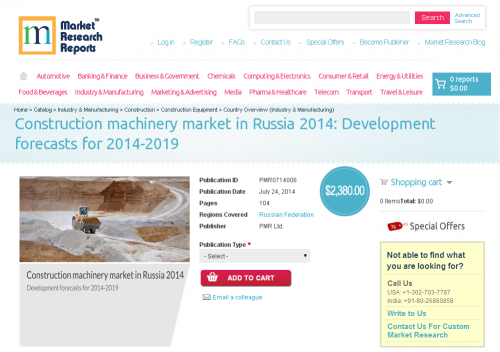 Construction machinery market in Russia 2014'