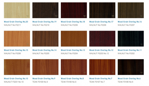 woodgrain overlay films'