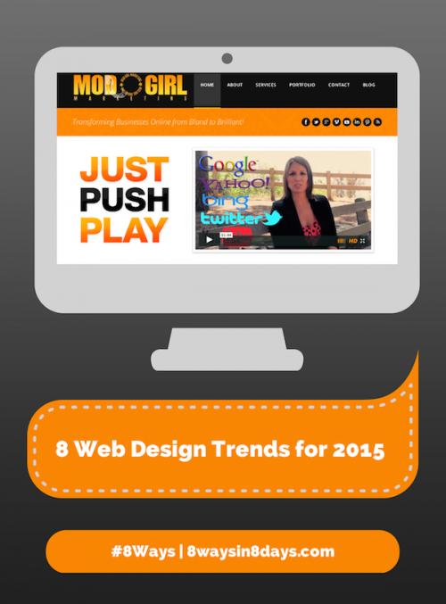 8 Modern Web Design Trends for 2015'