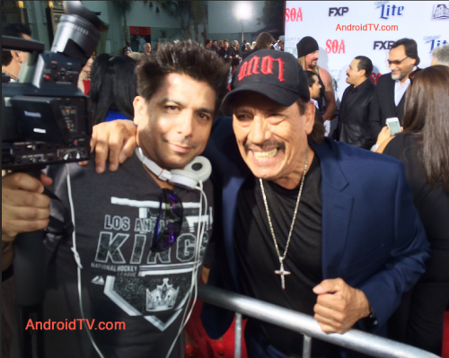 android tv at sons of anarchy premiere'