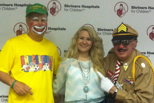 Josey Milner With Shriner's Clowns'