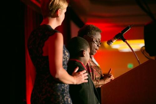 Mysie and Darius, HIF grant recipients'