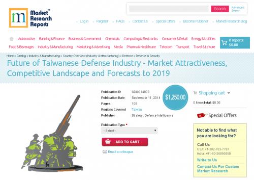 Future of Taiwanese Defense Industry to 2019'