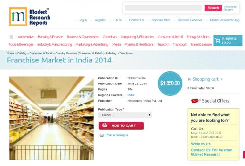 Franchise Market in India 2014'