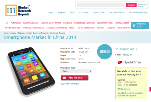 Smartphone Market in China 2014'