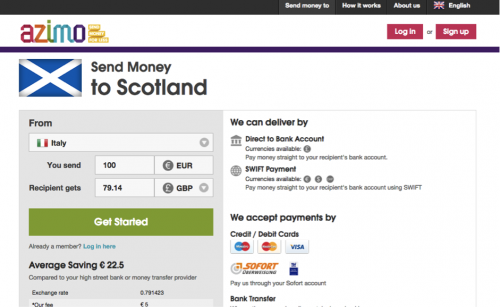 Send Money To Scotland'