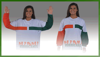 University of Miami Team Motion Shirt. The U!'